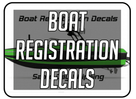 Boat Registration Decals and Signs